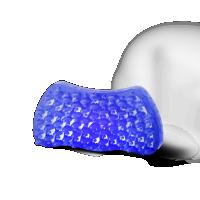 Katzenbürste Groomy Bürste für Kurzhaar Katzen blau